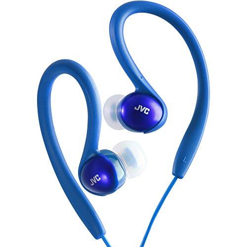 Sportclip Blue - JVC HAEBX5AN Sport-Clip Headphones(Blue)