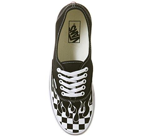 Vans Authentic Flamme Black Check White True 7ppBq