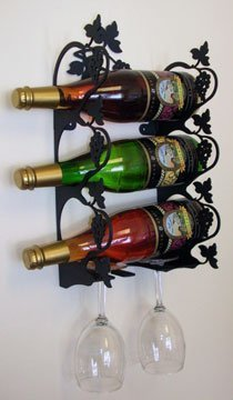 Village Wrought Iron WR-WM-157-S Small Wall Moutain Grapevine Wine Rack by Village Wrought Iron