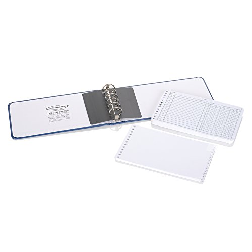 wilson jones ring ledger outfit  bookkeeping system with ring binder  ledger sheets  and a
