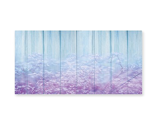 Floral Wall Art, Surreal Winter Plants Ivy on Soft Toned Planks