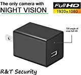 Night Vision Spy Camera Charger - Hidden Camera Adapter - Mini Spy Camera 1080p - USB Charger Camera - Hidden Spy Camera - Hidden Nanny Cam - Hidden Spy Cam with Infrared