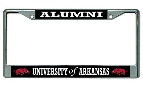 (University of Arkansas Alumni License Plate)