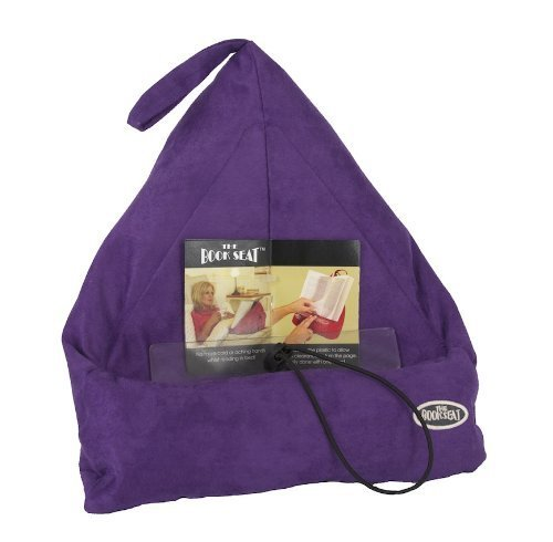 The Book Seat - Book Holder and Travel Pillow - Purple (Best Gifts For Avid Readers)