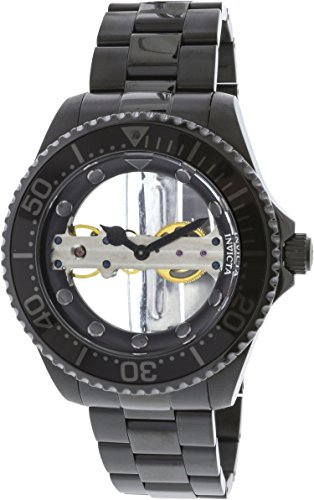 Dial Black Ip Bracelet - Invicta 24697 Men's Pro Diver Ghost Bridge Black & Silver Transparent Dial Black IP Bracelet Watch