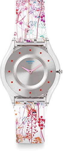Swatch Women's Analogue Quartz Watch with Plastic Strap - SFE102