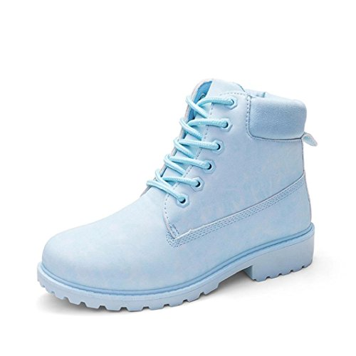Sonnena Women Boots Women Ladies Faux Boots Ankle Boots Casual Martin Shoes UK Size Blue