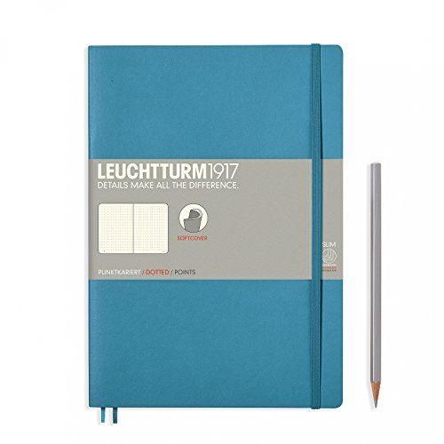 "Leuchtturm 1917 Soft Cover Composition B5 Notebook 7"" x 10"", Nordic Blue, Dotted / Points"