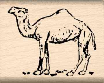 Camel Rubber Stamp - 1 inch x 1-1/4 inches