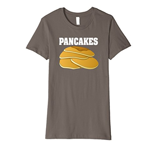 Costumes For Two Friends (Womens Pancakes Group Halloween Costume Premium T-shirt XL Asphalt)