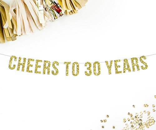 Cheers To 30 Years Party Banner | anniversary | birthday | celebration | decor | sign |