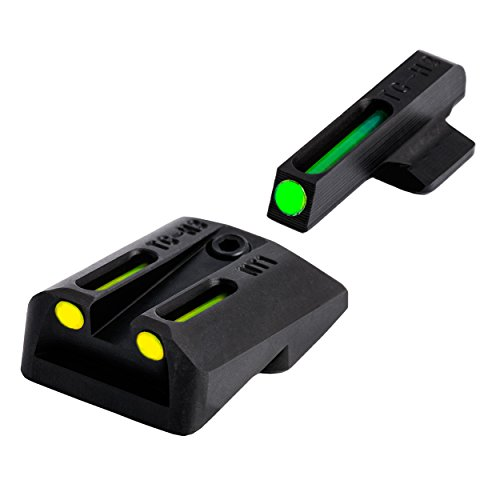 (TRUGLO TFO 1911 .260/.450 Set Tritium/Fiber-Optic Sights (Green/Yellow))