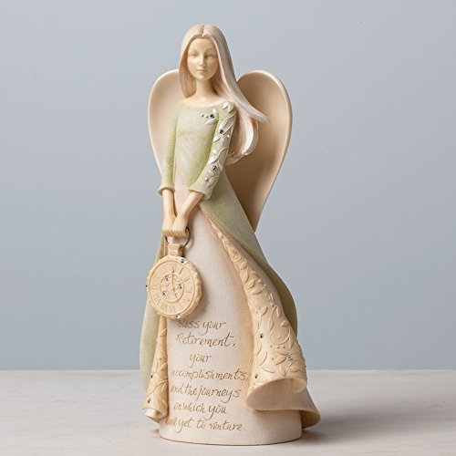 Enesco Foundations Retirement Angel Stone Resin Figurine, 9