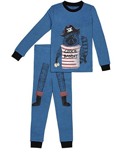 Petit Lem Little Boys' 2 Piece Set Pajama, Denim Blue, 5