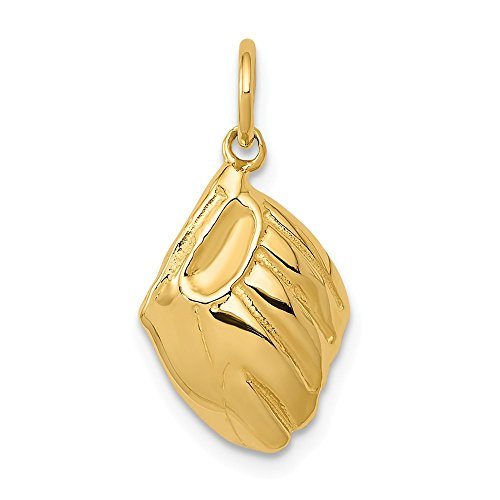 Jewels By Lux 14K Yellow Gold Baseball Glove Charm