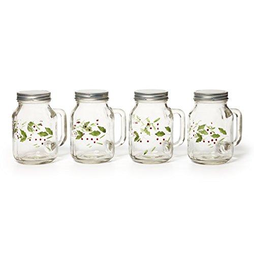 Pfaltzgraff Winterberry Mason Jars, 20-Ounce, Set of 4