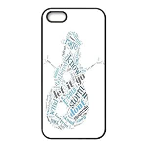 Let it Go Pattern Design Solid Rubber Customized Cover Case for iPhone 4 4s 4s-linda379