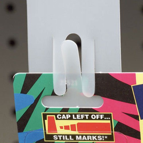 (Hanging Clip Strips - Plastic Merchandising Strip Display for 12 Items - 5 Pack)