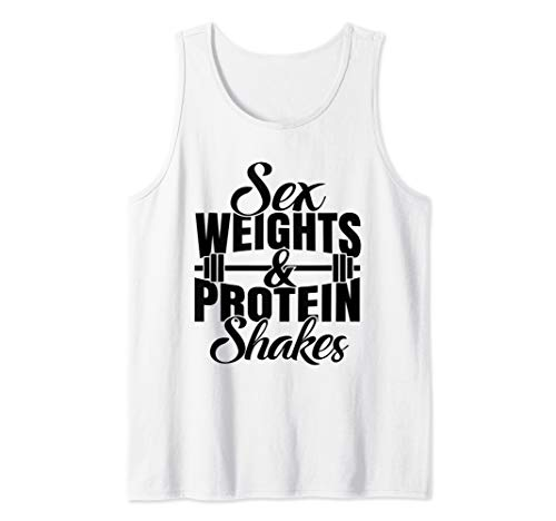 Weights And Protein Shakes Tank Top