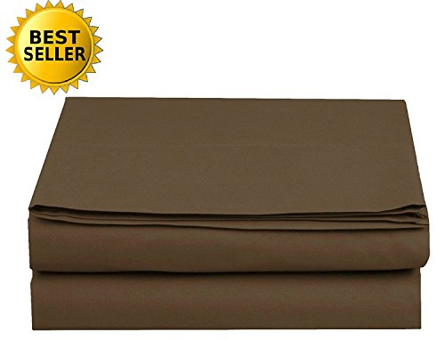 Luxury Fitted Sheet on Amazon Elegant Comfort Wrinkle-Free 1500 Thread Count Egyptian Quality 1-Piece Fitted Sheet, King Size, Chocolate - Sheet Chocolate Fitted