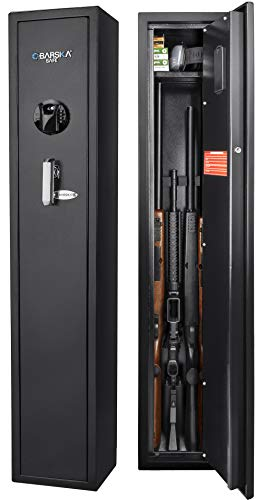 BARSKA New Large Quick Access Biometric Rifle Gun Safe Cabinet (9.8 in x 8.6 in x 52.17 in)