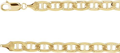 Jewels By Lux 14K Yellow Gold 6mm Anchor 8.5