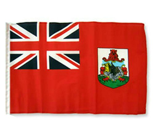 ALBATROS 12 inch x 18 inch Bermuda Sleeve Flag for use on Boat, Car, Garden for Home and Parades, Official Party, All Weather Indoors Outdoors