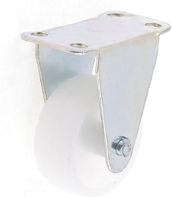 eDealMax 37 mm Diámetro de la rueda de placa Plana rígida fija Industrial rotación Caster