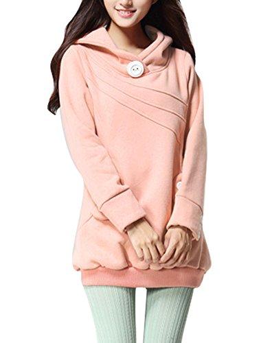 065ad017621e 50%OFF Allegra K Women Chic Long Sleeved Slant Pockets Ribbed Hem Tunic  Hoodie