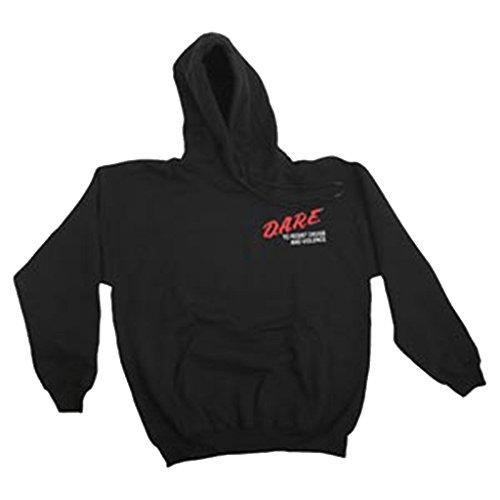 Officially Licensed DARE Hooded Sweatshirt - Black Hoodie