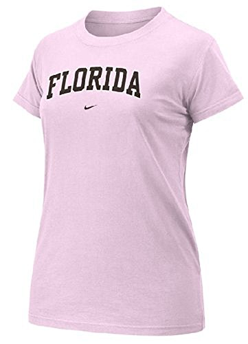 Florida Gator Women's Pink New Arch Short Sleeve Tee Shirt By Nike (XS=0-2)