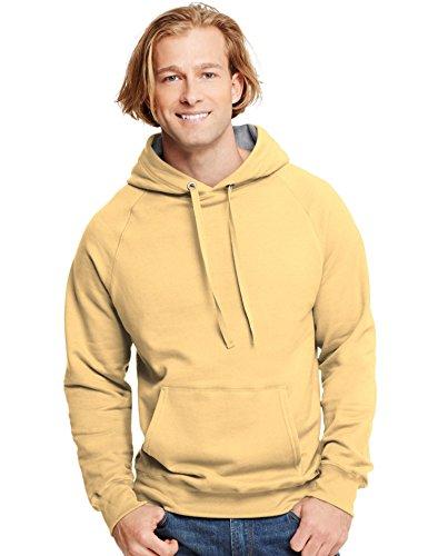 Hooded Vintage Sweatshirt - Hanes Mens Nano Premium Lightweight Pullover Hoodie, Vintage Gold, XX-Large