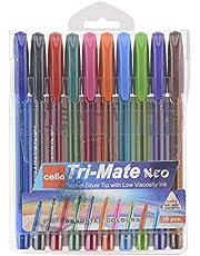 Cello Tri-Mate NEO - Bolígrafo triangular (1,00 mm), varios colores, color multicolor 10