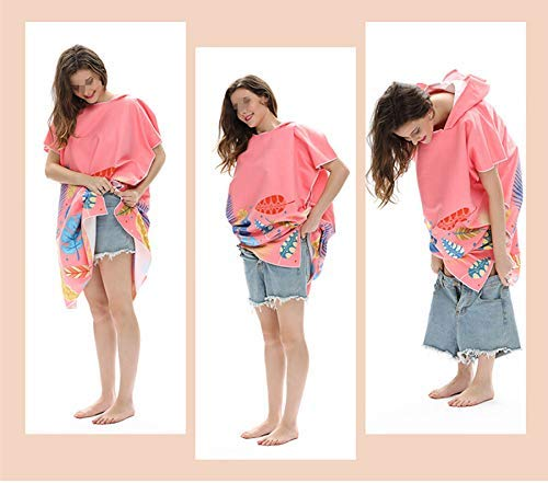Adult Hooded Bath Towel Suitable for Surfing Swimming Diving Suit 75x140cm Quick-drying Portable Swimming Hooded Blanket Beach Towel