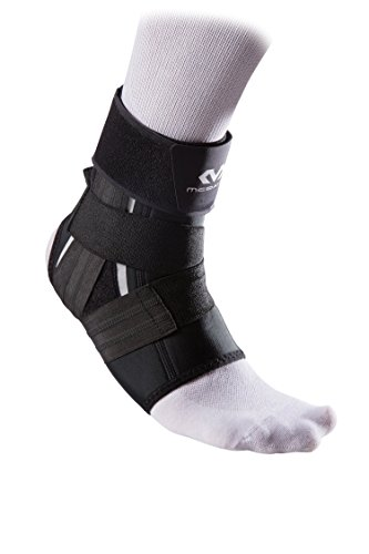 McDavid 461 Foot Ankle Support with Precision Straps, Lightweight and Compressive for Relief from Ankle Injuries, Pain, and Swelling, Left and Right