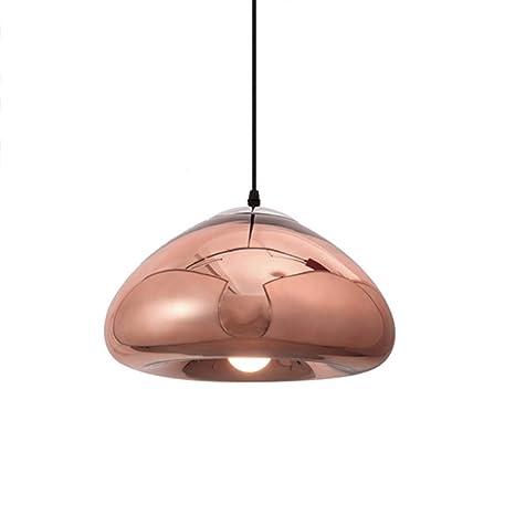 WLG Lámparas de araña Novely- Lámpara colgante de oro rosa ...