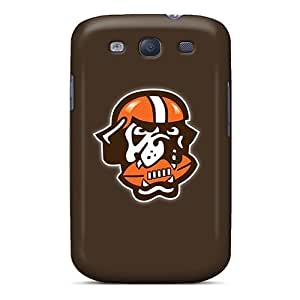 Galaxy S3 YYM2104zKKh Cleveland Browns 7 Tpu Silicone Gel Case Cover. Fits Galaxy S3