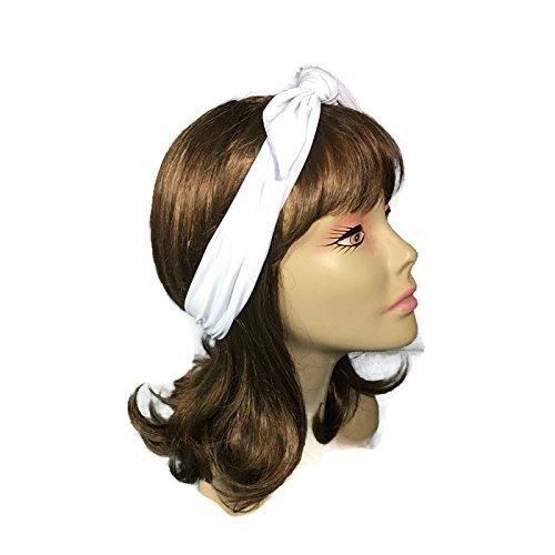 Amazon White Top Knot Headband Lycra Athletic Headband Swim