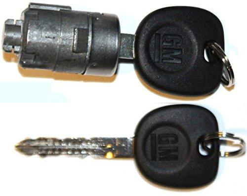 Select GM OEM Single CHROME Door Lock Cylinder W/2 OEM GM LOGO KEYS - 706592 + 5928818