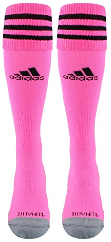 (adidas Copa Zone Cushion III Soccer Socks (1-Pack), Ultra Pop/Black, Large)