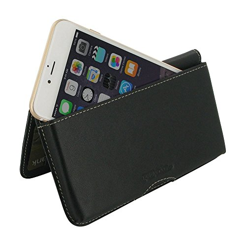 PDair Leather Horizontal Wallet Case Cover for Apple iPhone 7 Plus - Black