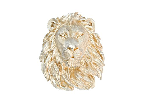 Near and Deer Faux Taxidermy Lion, Gold by Near & Deer