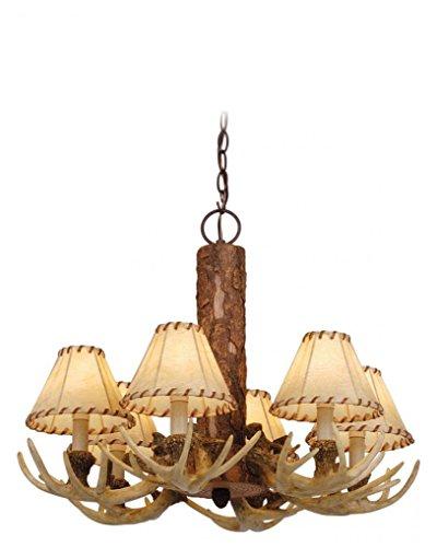 Cheap Vaxcel CH33006NS Lodge 6 Light Chandelier, 22″ x 22″ x 18″, Noachian Stone Finish