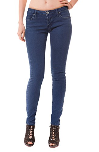 Fit Low Rise Jeans - Womens Super Comfy Stretch Denim 5 Pocket Jean P22884SK Medium Blue 7