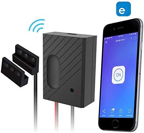 Newgoal Smart Garage Door Controller WiFi Switch Compatible Garage Door Opener Smart Phone Remote Control Timing Function Voice Control Ewelink APP