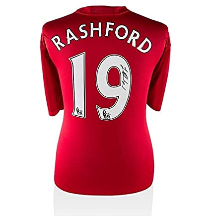 603c421762c Marcus Rashford Signed Manchester United 2016-17 Shirt - Number 19 Autograph  - Autographed Soccer Jerseys at Amazon s Sports Collectibles Store