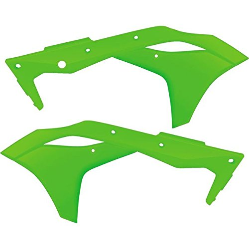 Acerbis Radiator Shrouds - Flo Green, Color: Green by Acerbis