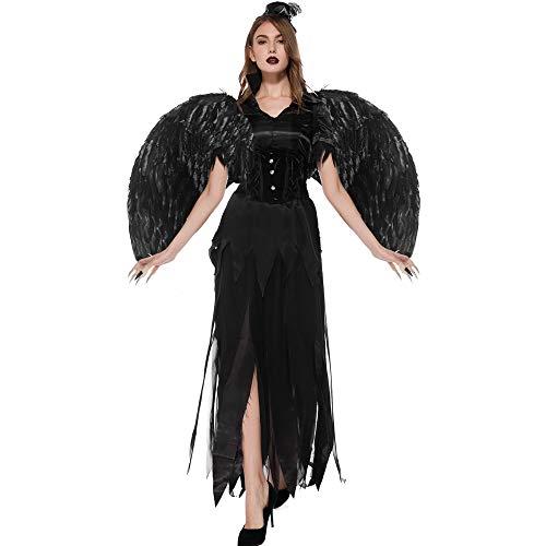 Disfraz de ángel caído del Diablo Negro de Cuero Disfraz de ...