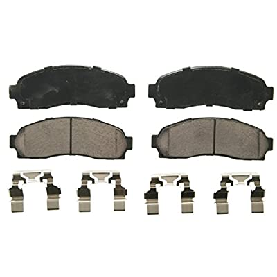 Wagner QuickStop ZD833 Ceramic Disc Pad Set Includes Pad Installation Hardware, Front: Automotive
