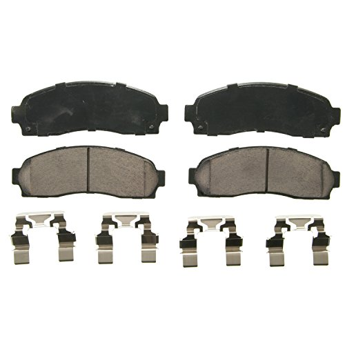 Wagner QuickStop ZD833 Ceramic Disc Pad Set Includes Pad Installation Hardware, - Brake Set Ford Pad